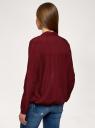 Блузка с отложным воротником oodji для женщины (красный), 11400456/42540/4900N