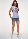 Шорты джинсовые базовые oodji #SECTION_NAME# (синий), 12807025-3B/46253/7500W - вид 6