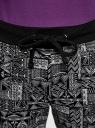 Брюки трикотажные на завязках oodji для женщины (черный), 16701042-1/46919/2910G