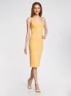 Платье трикотажное на тонких бретелях oodji #SECTION_NAME# (желтый), 14015007-1B/45450/5210S - вид 6