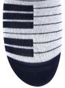 Комплект носков с двойной резинкой (3 пары) oodji для женщины (разноцветный), 57102703T3/47469/10