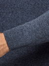 Джемпер базовый с круглым воротом oodji #SECTION_NAME# (синий), 4B112003M/34390N/7500O - вид 5