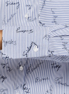 Рубашка принтованная с длинным рукавом oodji #SECTION_NAME# (синий), 13K11022/45202/7910G - вид 5