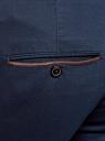 Брюки-чиносы с отделкой из искусственной замши oodji для мужчины (синий), 2L150135M/44093N/7900N