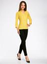 Блузка вискозная с рукавом-трансформером 3/4 oodji #SECTION_NAME# (желтый), 11403189-2B/26346/5100N - вид 6