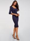 Платье облегающего силуэта с воланами на рукавах oodji для женщины (фиолетовый), 63912224/47002/8800N - вид 6