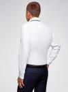 Рубашка хлопковая с контрастной отделкой oodji #SECTION_NAME# (белый), 3L110332M/48645N/1000O - вид 3