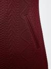 Платье трикотажное из фактурной ткани oodji #SECTION_NAME# (красный), 24001100-6/45351/4901N - вид 5