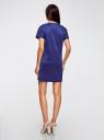 Платье из искусственной замши с завязками oodji #SECTION_NAME# (синий), 18L00001/45778/7500N - вид 3