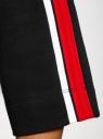 Платье прямого силуэта с надписью на груди oodji #SECTION_NAME# (черный), 14008030-1/46173/2945P - вид 5