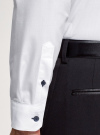 Рубашка приталенная с контрастной отделкой oodji #SECTION_NAME# (белый), 3L110397M/49838N/1075B - вид 5