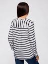 Блузка принтованная из вискозы oodji #SECTION_NAME# (белый), 11411049/24681/1079S - вид 3
