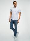 Рубашка хлопковая с коротким рукавом oodji #SECTION_NAME# (белый), 3L210058M/49030N/1075G - вид 6