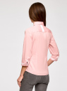 Блузка хлопковая с рукавом 3/4 oodji #SECTION_NAME# (розовый), 13K03005B/26357/4000B - вид 3