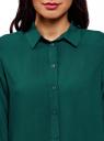 Блузка базовая из вискозы oodji #SECTION_NAME# (зеленый), 11411136B/26346/6E02N - вид 4