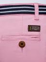 Шорты хлопковые с ремнем oodji для женщины (розовый), 12807089/48153/8000N