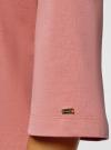 Платье прямого силуэта со спущенной проймой oodji #SECTION_NAME# (розовый), 14008028/48940/4B00N - вид 5