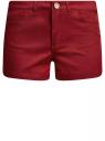 Шорты джинсовые стретч с отворотами oodji #SECTION_NAME# (красный), 12807082B/45491/4500N