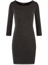 Платье с разноцветным люрексом oodji для женщины (черный), 73912219/45965/2900X