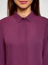 Блузка базовая из струящейся ткани oodji для женщины (красный), 11400368-9B/36215/4C00N