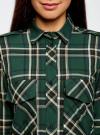 Рубашка в клетку с нагрудными карманами oodji #SECTION_NAME# (зеленый), 11411052-2/45624/6912C - вид 4