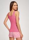 Пижама с шортами и принтом oodji #SECTION_NAME# (розовый), 56002152-21/46158/4D41P - вид 3