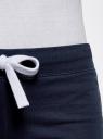 Комплект из двух трикотажных шорт oodji для женщины (синий), 17001029T2/46155/7900N