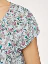 Блузка свободного силуэта с бантом oodji для женщины (зеленый), 11411154-1B/24681/6519F