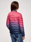 Куртка стеганая с круглым вырезом oodji для женщины (розовый), 10204040-1B/42257/4D79T - вид 3