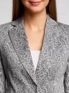 Жакет хлопковый приталенный oodji #SECTION_NAME# (серый), 21203085-1B/14522/2340E - вид 4
