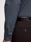 Рубашка slim с мелким геометрическим узором oodji #SECTION_NAME# (черный), 3L110216M/19370N/2975G - вид 5