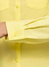 Блузка с нагрудными карманами и регулировкой длины рукава oodji #SECTION_NAME# (желтый), 11400355-3B/14897/6700N - вид 5