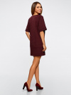 Платье в рубчик свободного кроя oodji #SECTION_NAME# (красный), 14008017/45987/4900N - вид 3