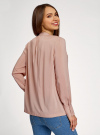 Блузка вискозная с нагрудными карманами oodji #SECTION_NAME# (розовый), 11411201/24681/4B00N - вид 3