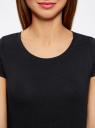 Комплект приталенных футболок (2 штуки) oodji для женщины (черный), 14701005T2/46147/2900N