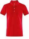 Поло из ткани пике oodji для мужчины (красный), 5B422001M/44032N/4500N