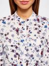 Блузка вискозная с регулировкой длины рукава oodji #SECTION_NAME# (слоновая кость), 11403225-2B/26346/3075F - вид 4