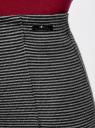 Юбка-карандаш трикотажная в мелкую полоску oodji для женщины (серый), 73612026/45910/2923S