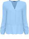 Блузка oodji для женщины (синий), 21411075/24681/7000N