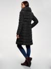 Пальто стеганое с объемным воротником oodji для женщины (черный), 10204049-1B/24771/2900N - вид 3