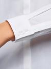 Рубашка хлопковая с декором на воротнике oodji #SECTION_NAME# (белый), 11410019/26357/1000X - вид 5