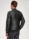 Куртка стеганая из искусственной кожи oodji #SECTION_NAME# (черный), 1L511053M-1/47397N/2900N - вид 3