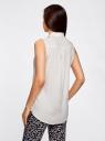 Топ вискозный с нагрудным карманом oodji для женщины (белый), 11411108B/45470/1200N