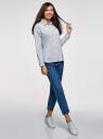 Рубашка хлопковая oversize oodji для женщины (белый), 13K11012-1/46807/1079S
