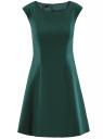 Платье из плотной ткани с овальным вырезом oodji для женщины (зеленый), 11907004-2/31291/6900N