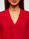 Блузка принтованная из вискозы oodji #SECTION_NAME# (красный), 11411049-1/24681/4500N - вид 4