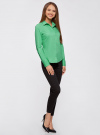 Рубашка базовая из хлопка oodji #SECTION_NAME# (зеленый), 11403227B/14885/6500N - вид 6
