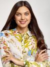 Платье вискозное на пуговицах oodji для женщины (разноцветный), 21900318/42127/1019F - вид 4