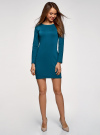 Платье базовое облегающего силуэта oodji #SECTION_NAME# (зеленый), 14011038B/38261/6C00N - вид 2