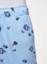 Брюки домашние принтованные oodji для женщины (синий), 59807010-5/46154/7033O